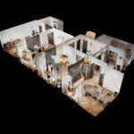 3D-OBHLIADKA-Namestie-1-maja-PRIESTOR-S-INVESTICNYM-POTENCIALOM-Dollhouse-View